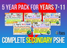 5 Year Pack - Complete Secondary PSHE and RSE KS3 & KS4