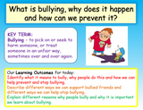 Bullying - Introduction Lesson KS2 PSHE