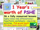 One year's worth of PSHE and RSE
