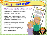 Girls' Puberty PSHE Lesson