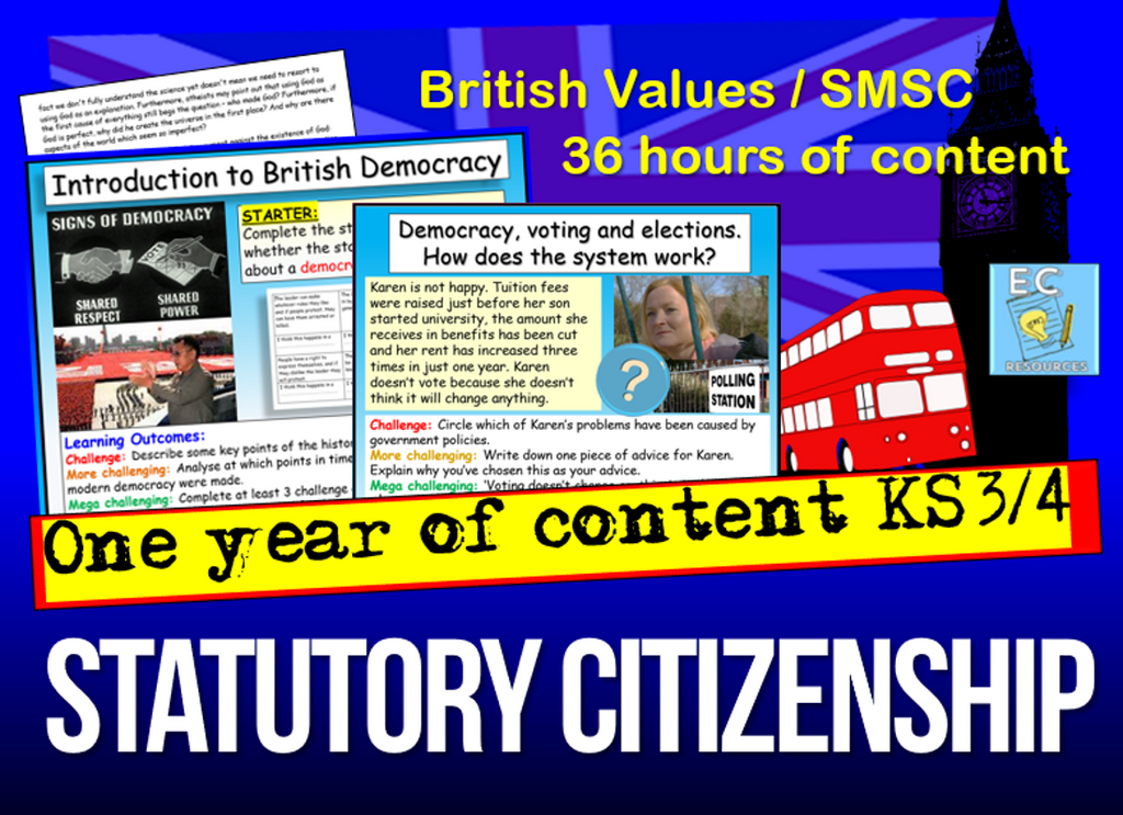 1 Year of Statutory KS3 Citizenship and British Values