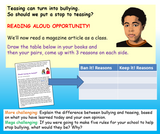 Teasing and Bullying KS3 PSHE Lesson (Lower ability & SEN)