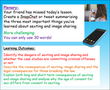 Sexting and Image Sharing PSHE