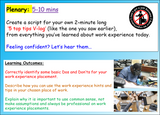 Careers - Work Experience Lesson