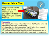 AQA GCSE Citizenship Police Powers Roles and place in the Justice System