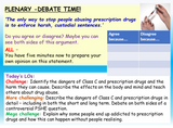 Class C and Prescription Drug Abuse Lesson