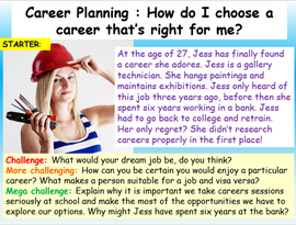 Careers - Planning my career