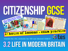 AQA Citizenship GCSE 9-1 Life in Modern Britain Unit