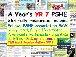 Complete Year 7 PSHE