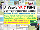 Complete Year 7 PSHE and RSE