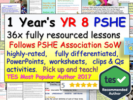 Complete Year 8 PSHE