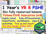 Complete Year 8 PSHE and RSE