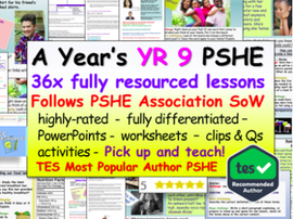 Complete Year 9 PSHE