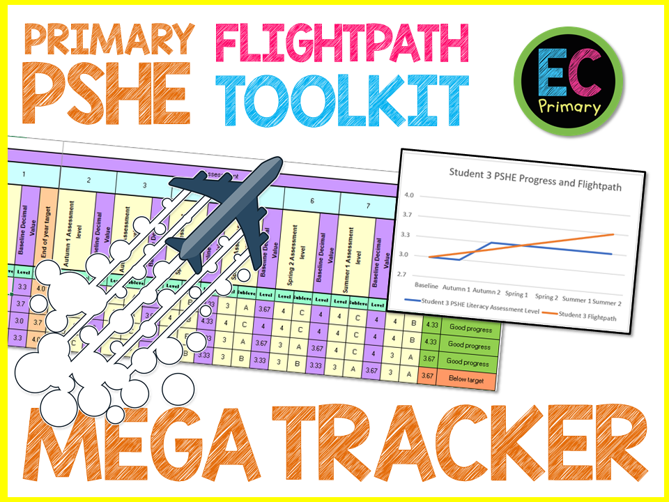 Primary PSHE Flightpath Generator and Student Assessment Data Tracker