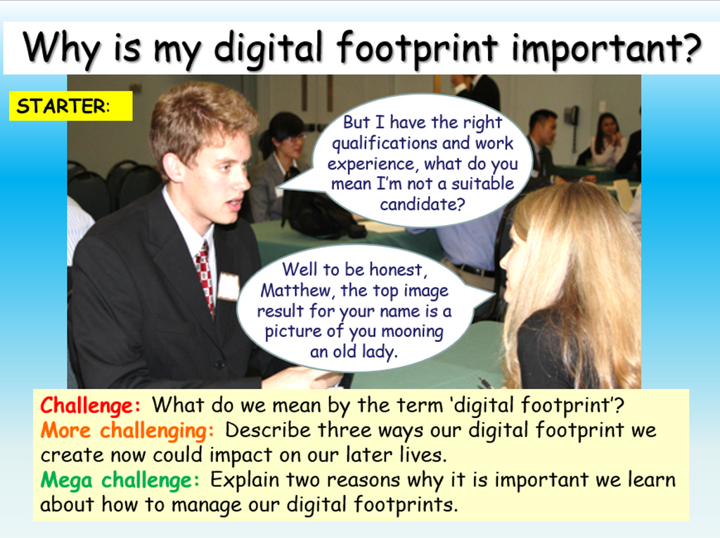 Internet Safety - Digital Footprints