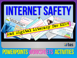 Internet Safety 12 lesson packs for KS3 & KS4