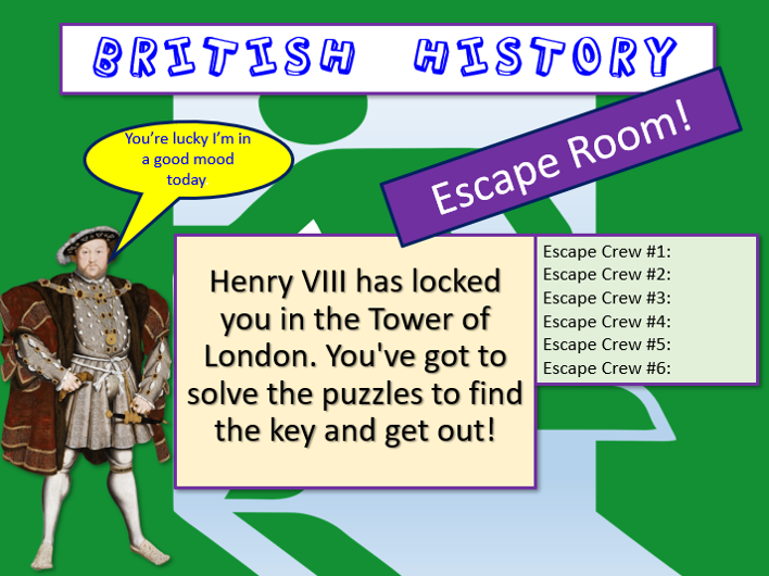 British History Escape Room