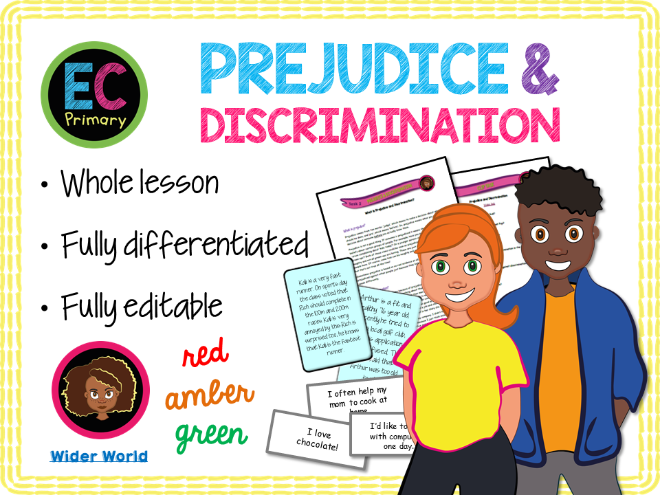 Prejudice, Discrimination and Stereotypes - KS2