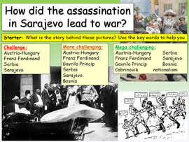 How did the assassination of Franz Ferdinand spark World War One?