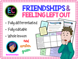 Friendship, Friends and Feeling Left Out PSHE