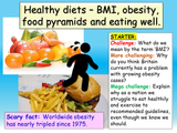 Healthy Eating, Obesity, BMI and Food Groups