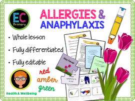 Allergies, allergic reactions and anaphylaxis