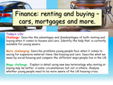 Finance - buying or renting?