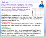 Healthy Living + Lifestyles PSHE Lesson