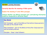 The Bible and Interpretations - RE