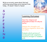 Suffering -  RE / Philosophy - Problem of Evil