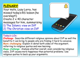 Religion and IVF Lesson