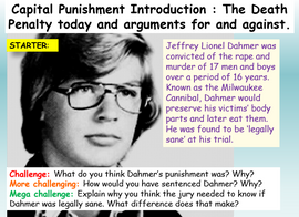 The Death Penalty / Capital Punishment
