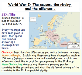 World War One: Causes