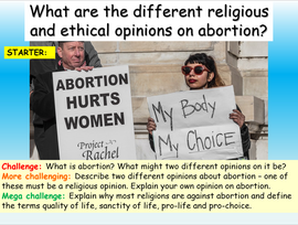 Abortion - the arguments for and against