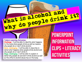 Introduction to Alcohol Lesson - KS3 (Lower ability & SEN)