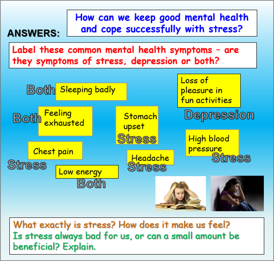 Coping with Stress PSHE Lesson