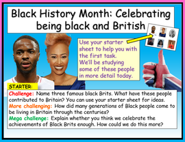 Black History Month - Black and British