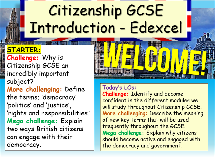 Citizenship GCSE Introduction Lesson - Edexcel