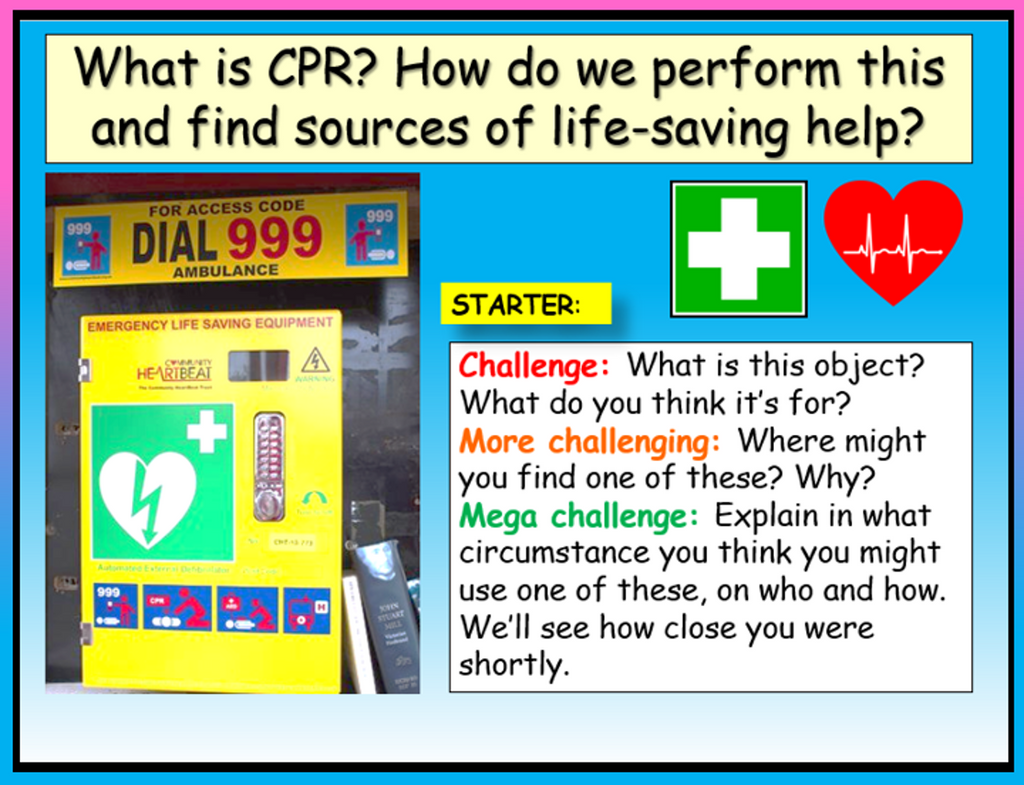 First Aid : CPR - PSHE Lesson