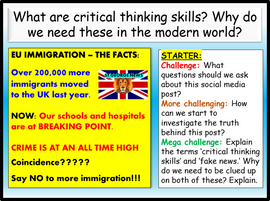 Critical Thinking and Media Scepticism