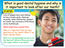 Dental / Oral Hygiene PSHE Lesson KS3 (Lower ability & SEN)