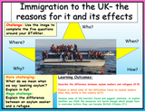 Immigration Reasons + Effects - Edexcel Citizenship