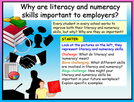 Careers + Employability - Literacy and Numeracy Skills