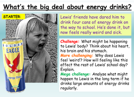 Energy Drinks PSHE Lesson