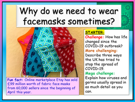 Facemasks lesson Covid 19 Recovery Curriculum - face masks