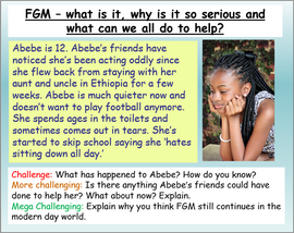 FGM and Breast Ironing PSHE