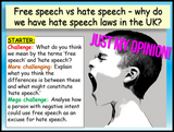 Hate Speech and Free Speech Lesson