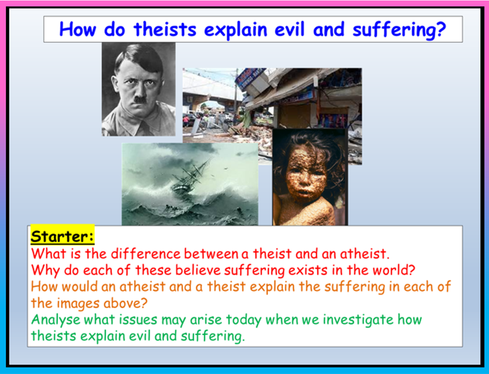 Why does God allow suffering? RE KS3 lesson