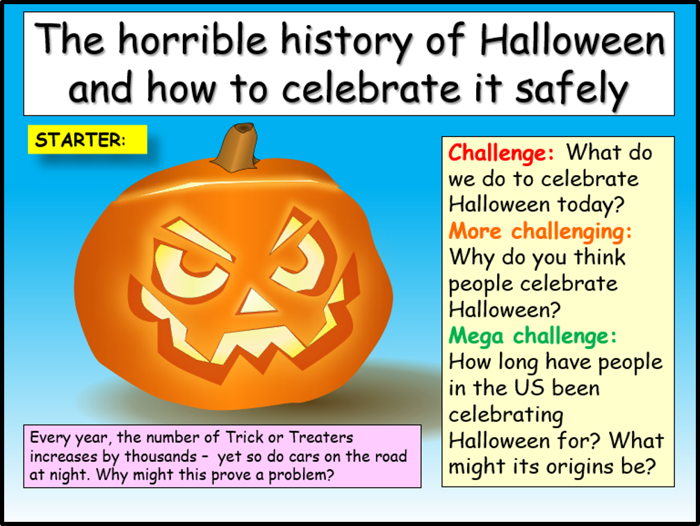 Halloween History and Safe Trick or Treating