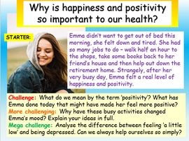 Mental Health - Positivity PSHE